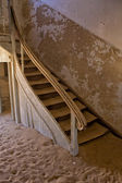 An old staircase at kolmanskop ghost town near luderitz namibia — Stock Photo