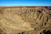 Detail of the east side the fish river canyon south namibia africa — Stock Photo