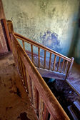 Staircase in a old house in kolmanskop namibia — Photo