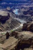 View of the fish river canyon south namibia africa — Stock Photo