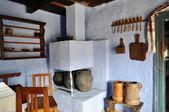 Traditional romanian house interior in Transylvania, Romania — Stock Photo