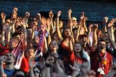 足球的支持者的幸福 — 图库照片