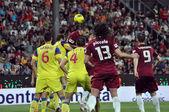 Jogo de futebol — Fotografia Stock