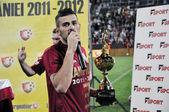 サッカーの championshp タイトルを祝うのサッカー選手 — ストック写真