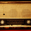 Old radio isolated on a dark background — Stock Photo