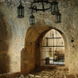 In the fortified castle of Bar, Montenegro - Stock Photo