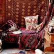 Stock Photo: Turkish carpet store, bazaar