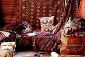 Turkish carpet store, bazaar — Stock Photo