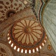Blue mosque interior in Istanbul — Stock Photo