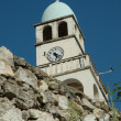 Stock Photo: Church tower in Dhermi, Albania