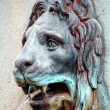Lion head water fountain — Stock Photo
