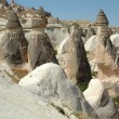 Foto Stock: Stone columns in Cappadocia, Turkey