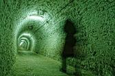 Corridor in the salt mine — Stock Photo