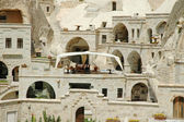 Ancient cave-town in Goreme, Cappadocia — Stock Photo