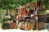 Turkish carpet store, bazaar — Foto Stock