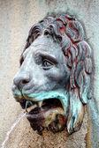Lion head water fountain — Stock Photo
