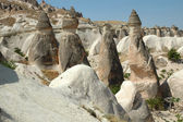 Stone columns in Cappadocia, Turkey — Foto de Stock