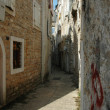 Narrow street of old Kotor, Adriatic coast, Montenegro — Stock Photo #8341562