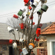 Постер, плакат: Tree decorated with pots