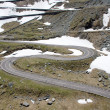 The Transfagarasan winding road — Stock Photo