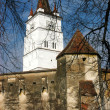 Fortified church of Harman in Transylvania, Romania - Stock Photo