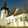 Stock Photo: Protestant church of Sintereag, Transylvania, Romania