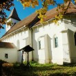 Stock Photo: Protestant church of Tonciu (Tancs). Transylvania, Romania