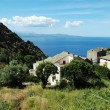 Nonza village with sea view. Corsica — Stock Photo