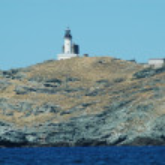 Beautiful sea view and Ile de Giraglia island, Cap Corse, Corsica — Stock Photo #8344830