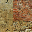 Stock Photo: Old wall with bricks and stones. Pisa, Italy