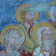 Stock Photo: Ancient fresco, murals in Ghelint(Gelence) church. Transylvania, Romania