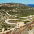 Serpentine road in Corsica island — Stock Photo