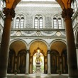 Stock Photo: Inner courtyard of Medici Riccardi Palace. Florence, Italy