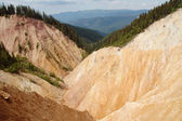 Erosional landscape in Groapa Ruginoasa, Apuseni, Romania — Stock Photo