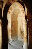 Ancient fresco in Cappadocia, Turkey — Stock Photo