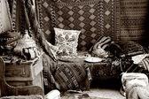 Turecký koberec obchod, bazar — Stock fotografie