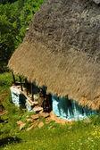 Old farmer's wooden house in Transylvania — Stock Photo