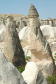 Stone columns in Cappadocia, Turkey — Stock Photo