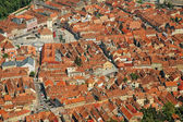 Aerial view of Brasov city, Romania — Stock Photo