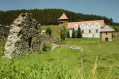 Medieval fortress of Lazarea nearly to Gheorgheni. — Stock Photo