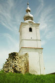Catholic church tower in Transylvania, Romania — Stok fotoğraf