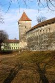 Iglesia fortificada de harman en transilvania, rumania — Foto de Stock
