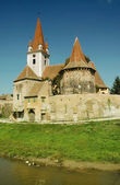 Fortified church of Cristian, Sibiu county. Transylvania, Romania — Stock Photo