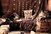 Turkish carpet store, bazaar — Stock Photo