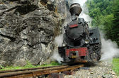 Functional steam locomotive — Stock Photo