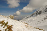 Retezat 山の冬の風景 — ストック写真