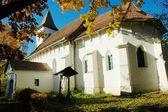 The protestant church of Tonciu (Tancs). Transylvania, Romania — Foto Stock
