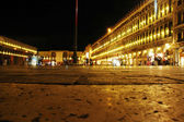 Night scene of San Marco Plaza in Venice, Italy — Stock Photo