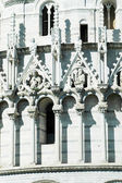Details of Miracoli square monuments. Pisa, Italy — Photo