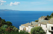Nonza village with sea view. Corsica — Stockfoto